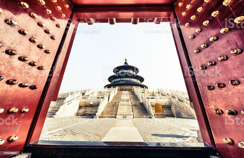 Welcome to Temple of Heaven royalty-free stock photo