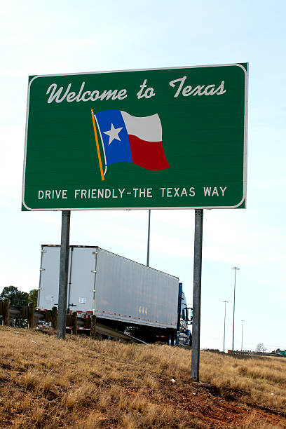 Welcome to Texas stock photo