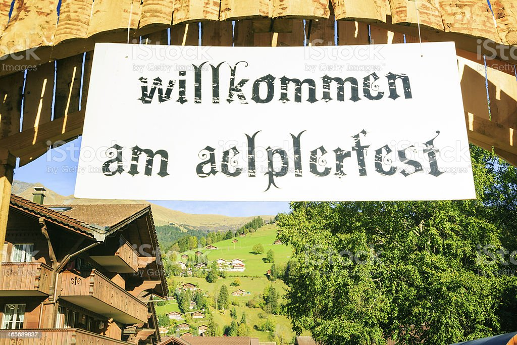 welcome to the aelplerfest royalty-free stock photo