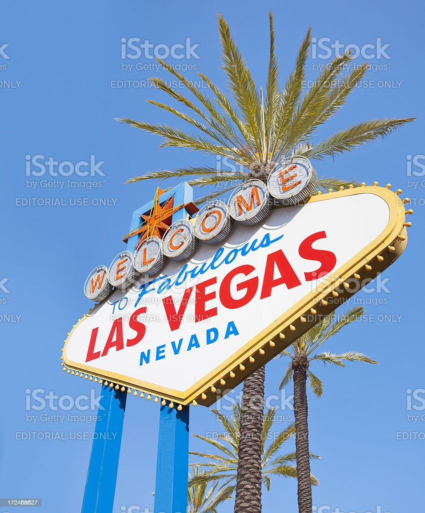 Welcome to the fabulous Las Vegas Nevada sign royalty-free stock photo