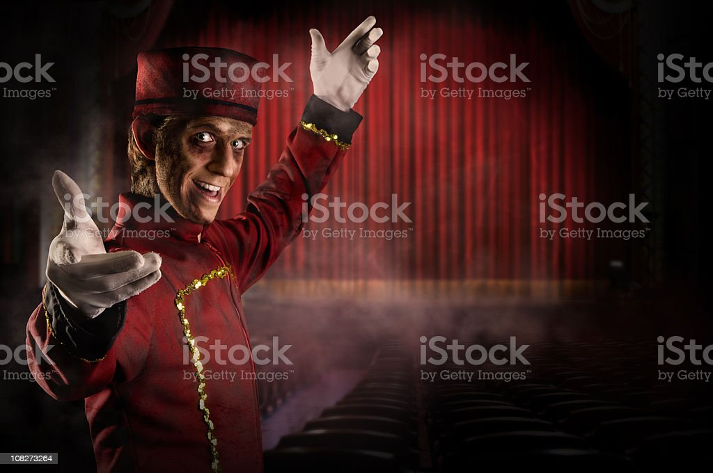 Bienvenido al espectáculo de horrores - foto de stock