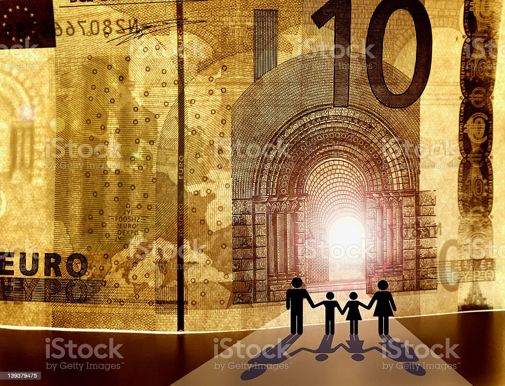 Welcome to the Kingdom of Money II royalty-free stock photo