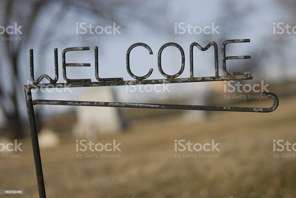 Welcome to the next stop. royalty-free stock photo