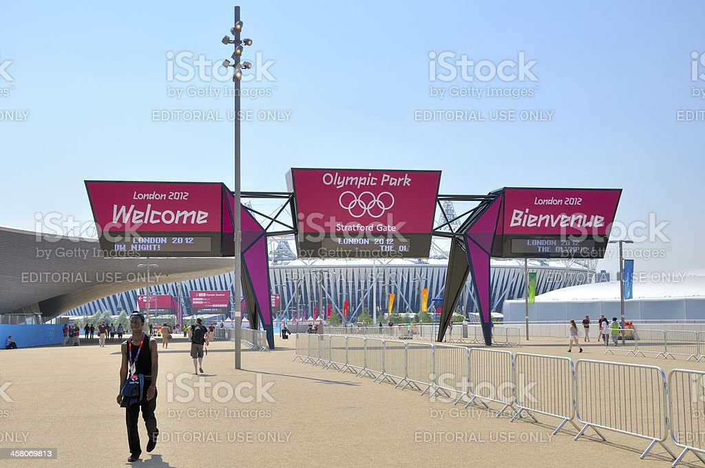 Welcome to the Olympic Park stock photo