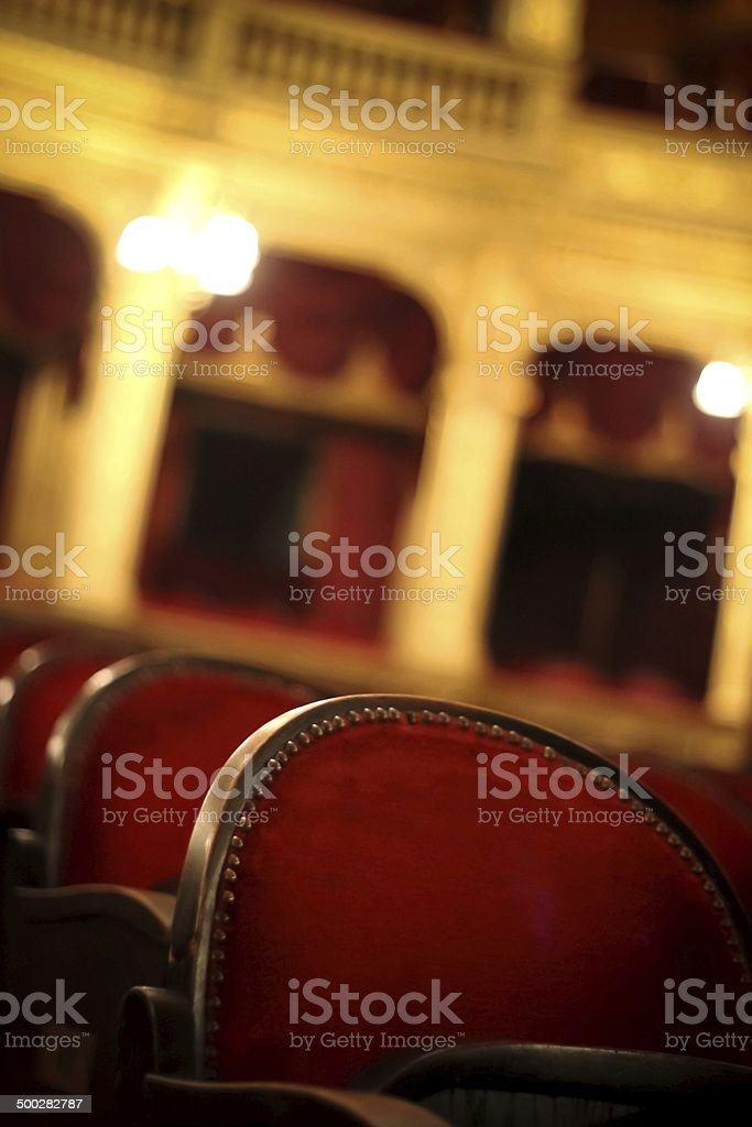 Welcome to the opera stock photo