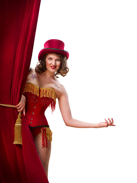 welcome to the show - burlesque stock photos and pictures
