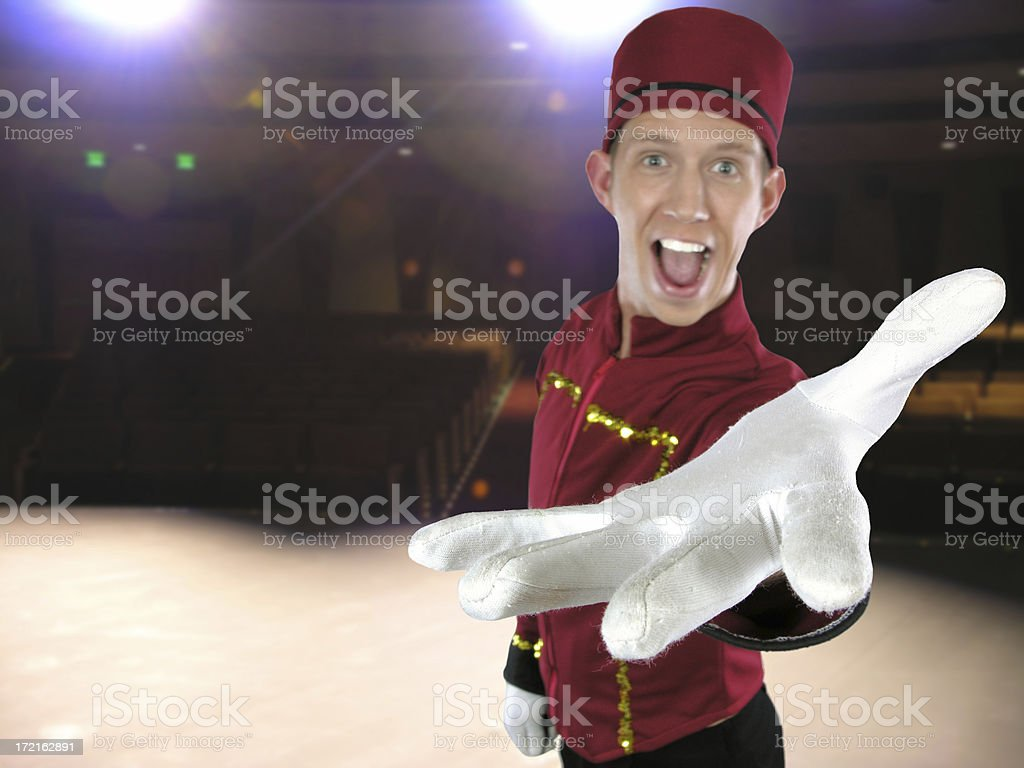 Welcome to the show! stock photo