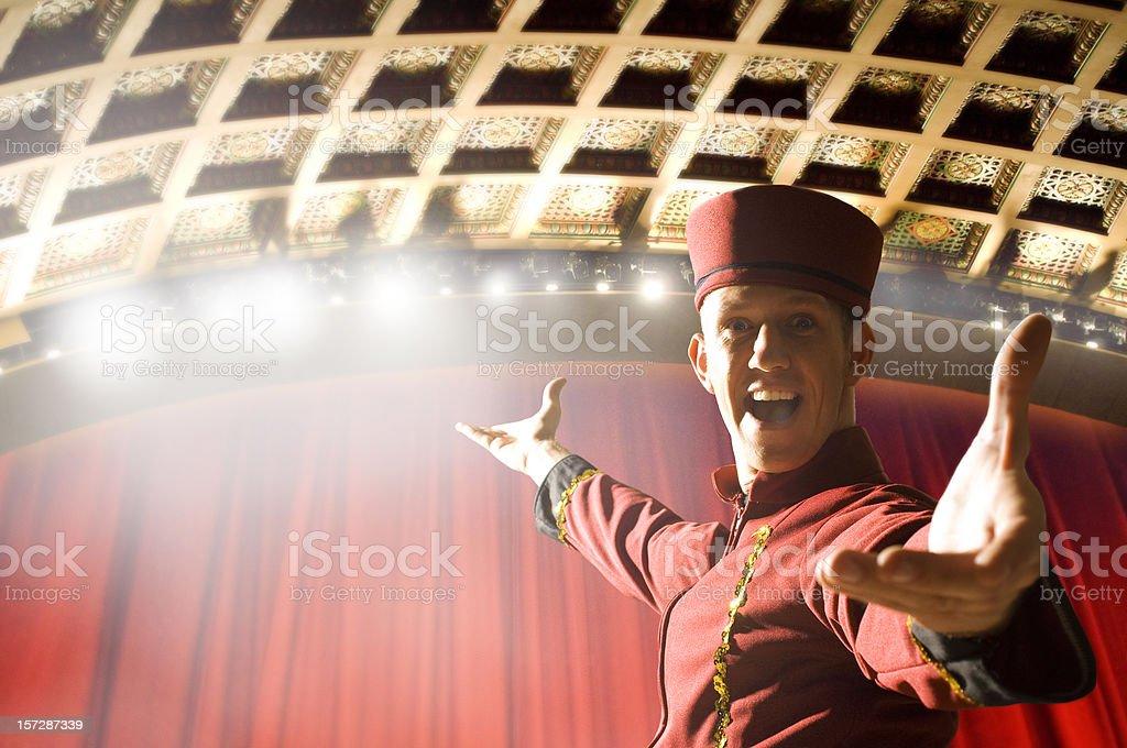 Bienvenido al teatro - foto de stock