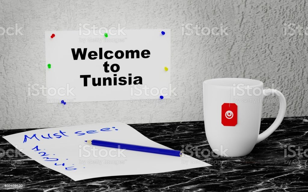 Welcome to Tunisia stock photo