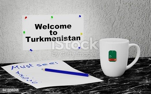 istock Welcome to Turkmenistan 941958048