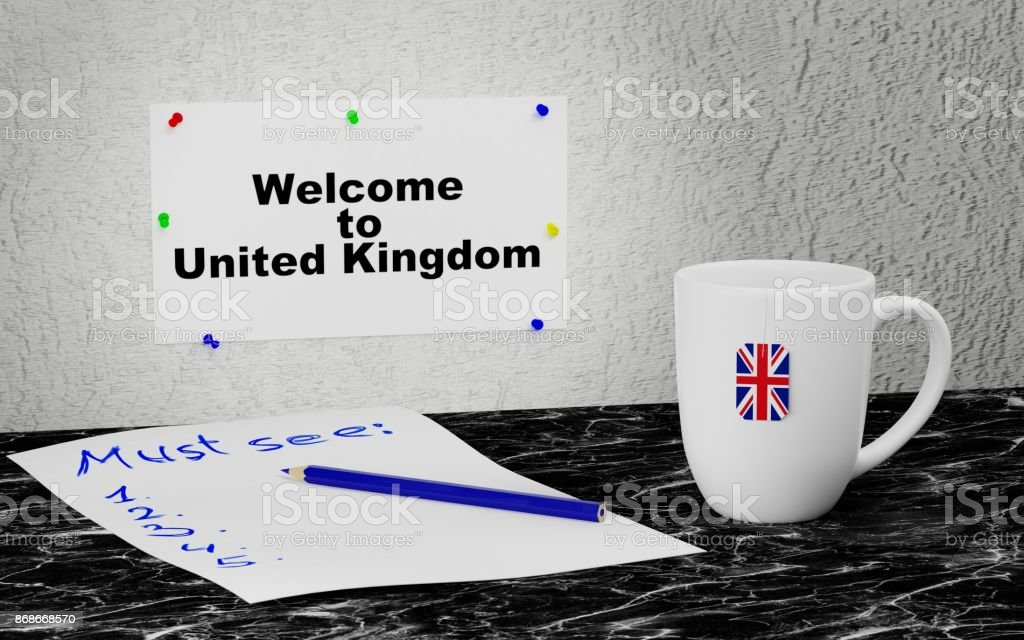 Welcome to United Kingdom stock photo