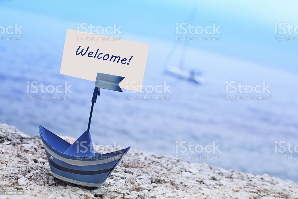 Welcome to vacation royalty-free stock photo