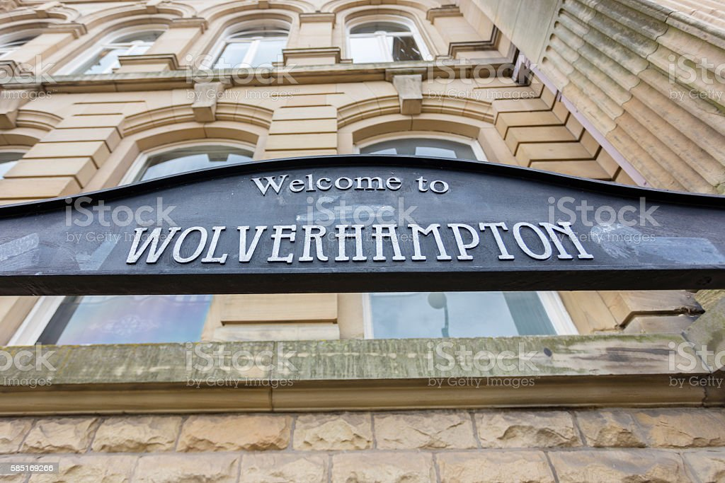 Welcome to Wolverhampton Sign stock photo