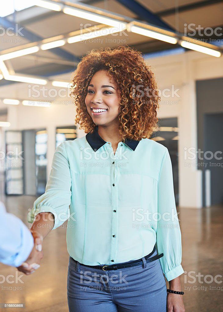 Welcome to your new career! stock photo