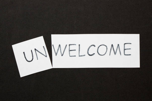welcome unwelcome concept - deplorable stock pictures, royalty-free photos & images