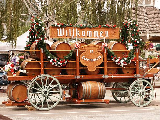 welcome wagon - leavenworth washington stock photos and pictures