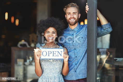istock Welcome, we're open for business 508407590