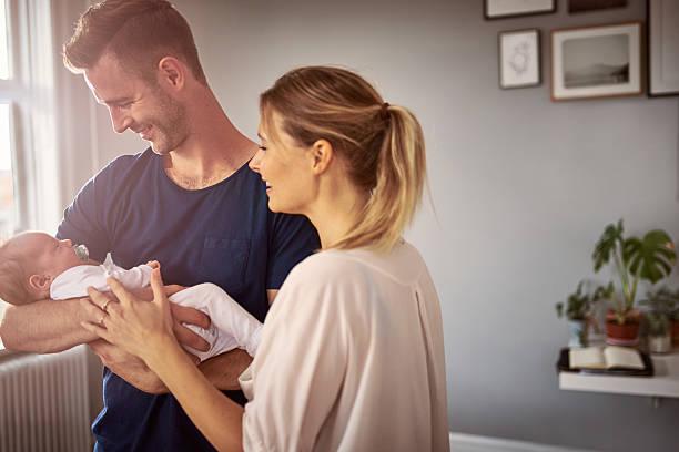 bem-vindo, temos sido espera por você - novo bebê - fotografias e filmes do acervo