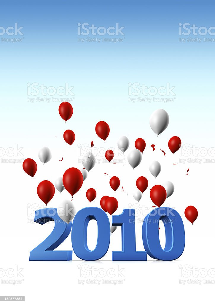 Welcome Year 2010 royalty-free stock photo
