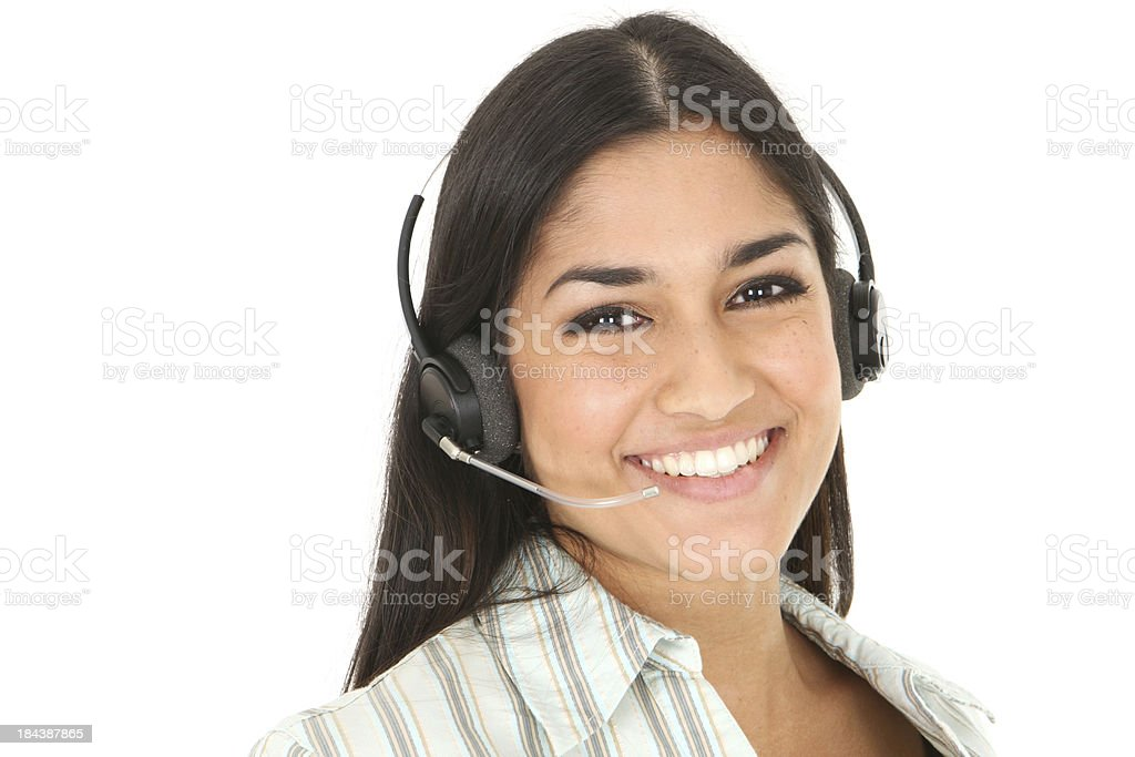 Welcoming Receptionist royalty-free stock photo