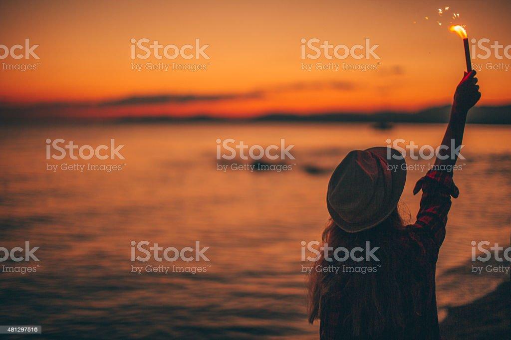 Accogliente l'estate - foto stock