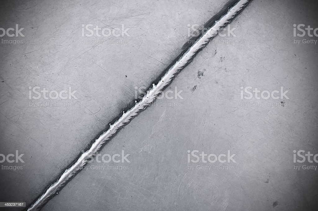 Weld Seam Line stock photo