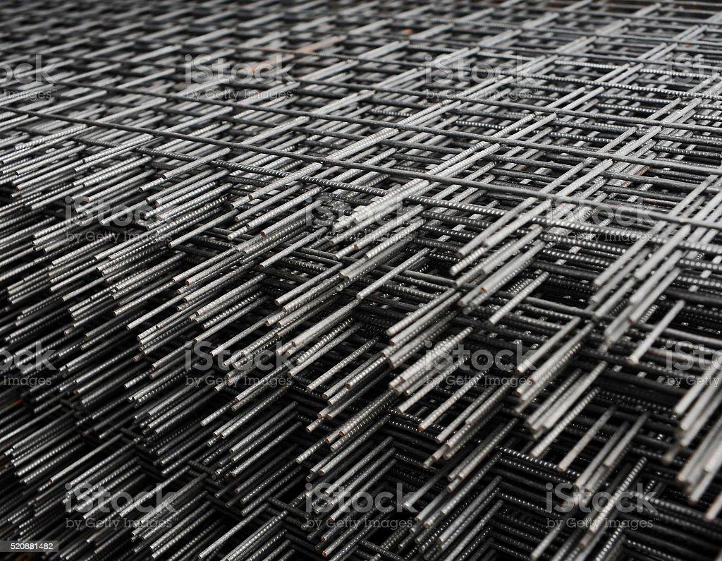 Welded metal bars background stock photo