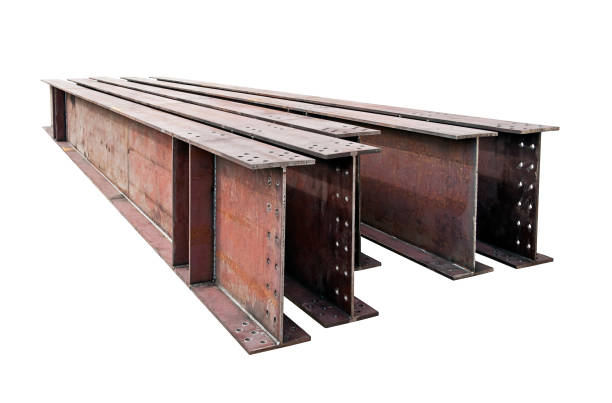 welded metal beams isolated on white background welded metal beams isolated on white background stock photography girder stock pictures, royalty-free photos & images
