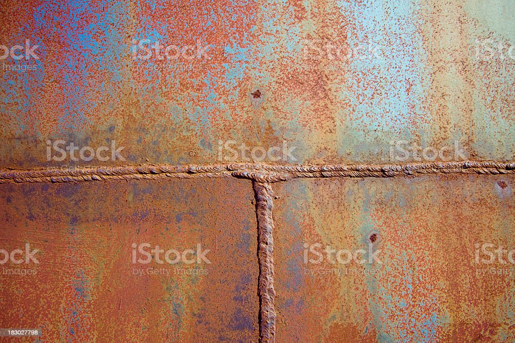 Welded metal texture royalty-free stock photo