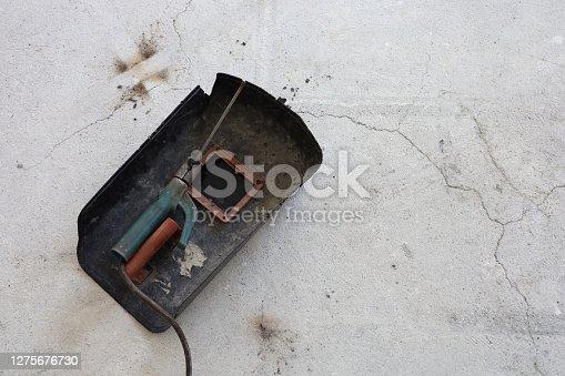 istock Welder accessories on floor 1275676730