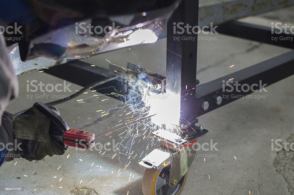 Welder at work royalty-free stock photo