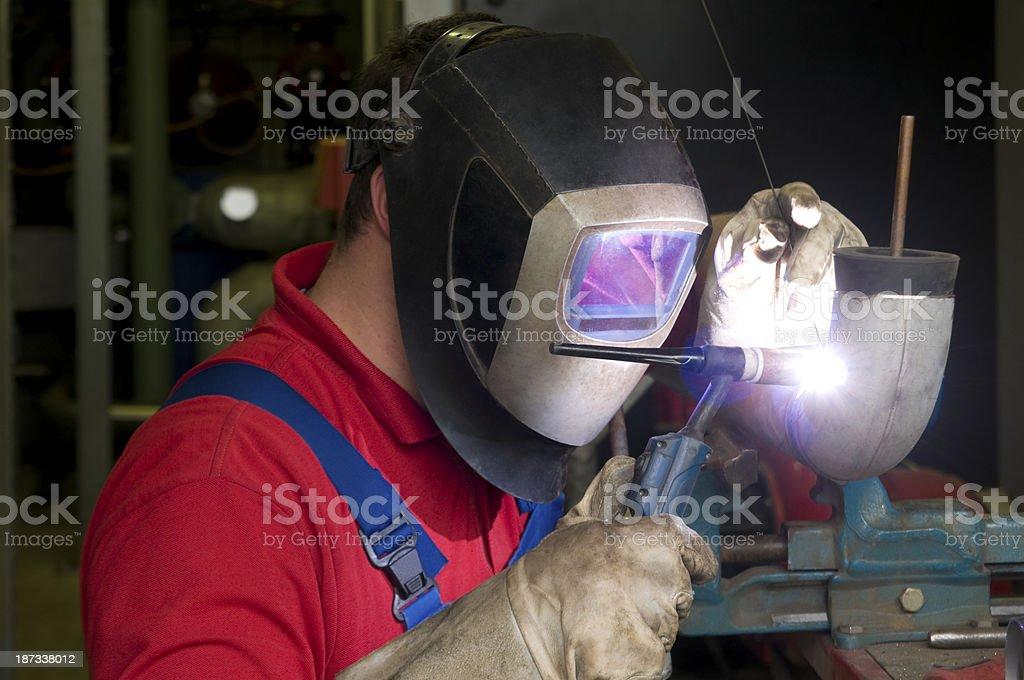 Welder at work, TIG-Welding royalty-free stock photo