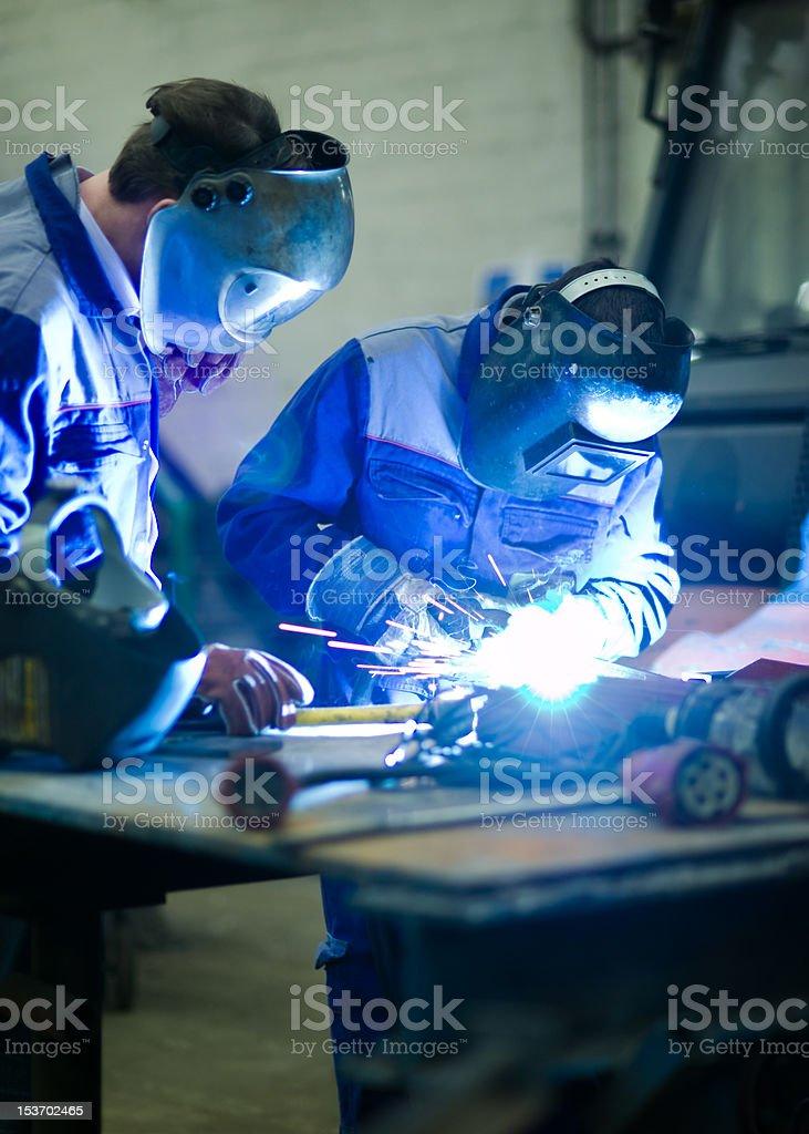 Welder education training stock photo
