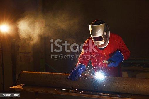 istock Welder engineer 483342102