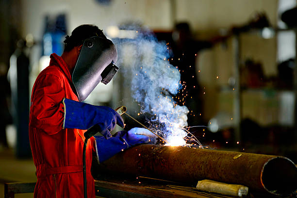 Welder engineer workshop Welder engineer workshop metal worker stock pictures, royalty-free photos & images