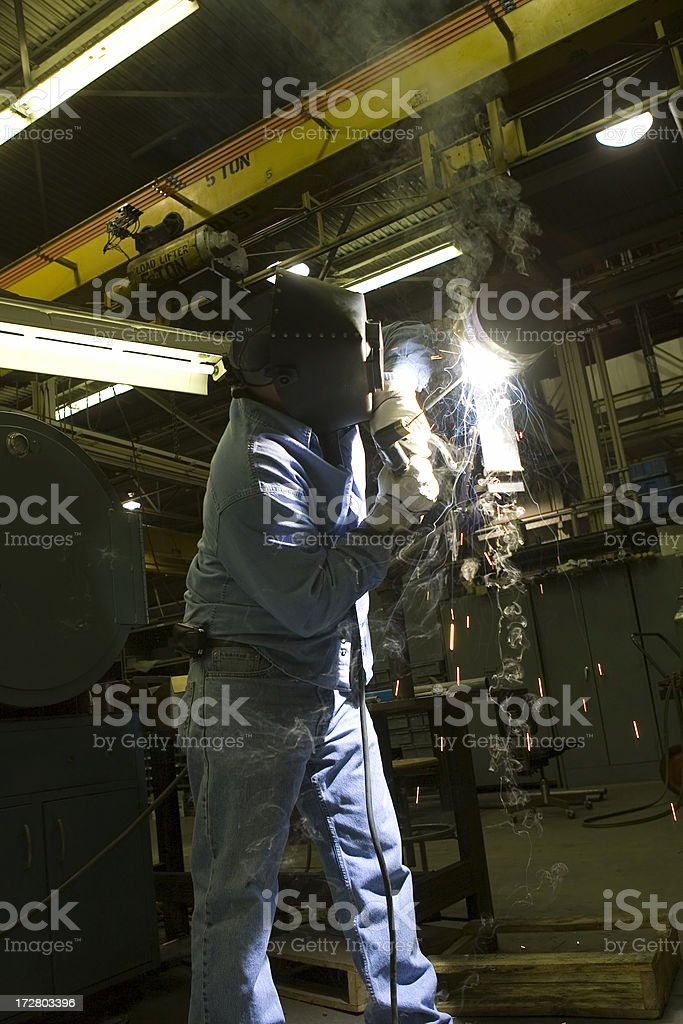 Welder In Shop royalty-free stock photo