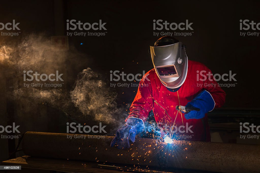 Welder metal steel stock photo
