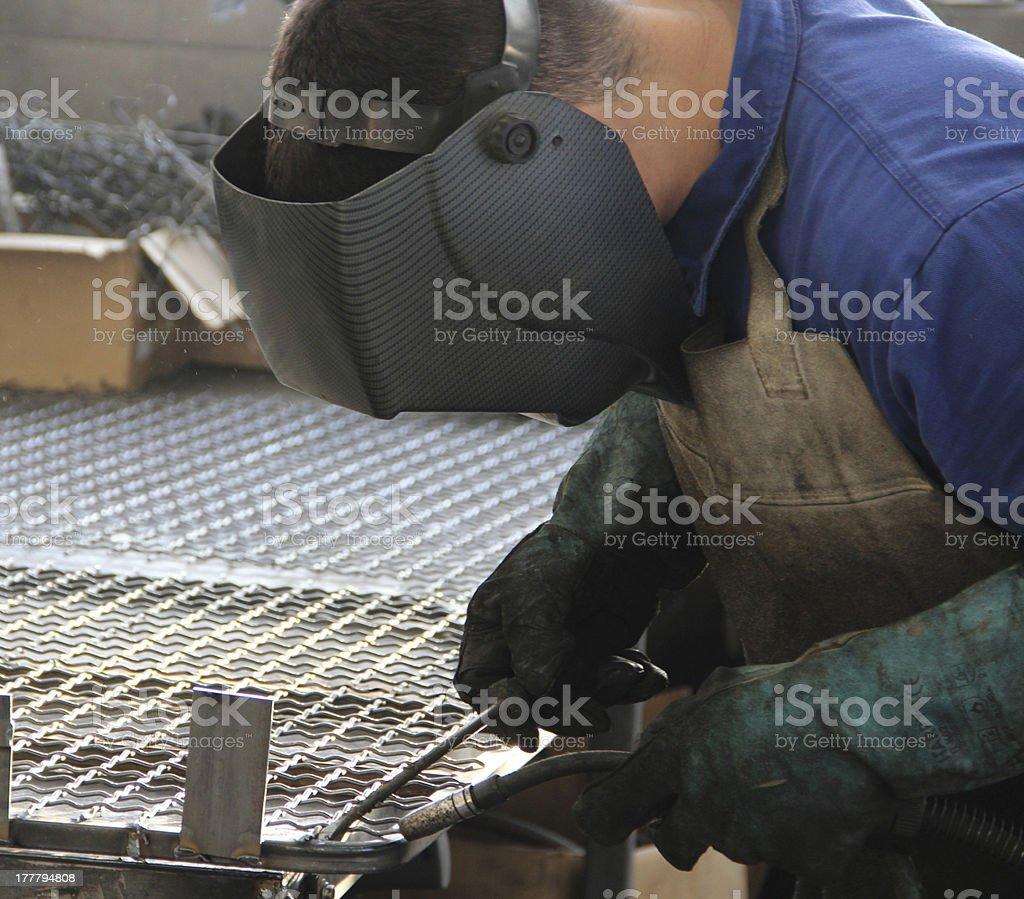 Welder at work.