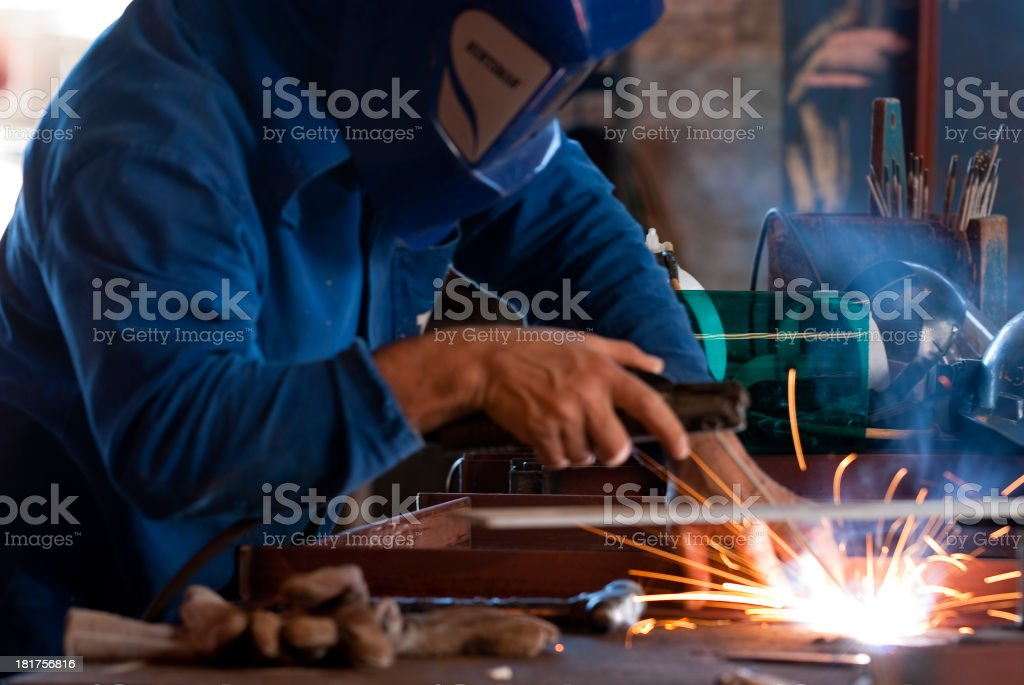 Professional Welder Working At An Industry.