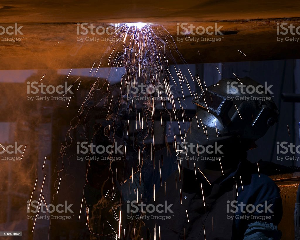 welder royalty-free stock photo