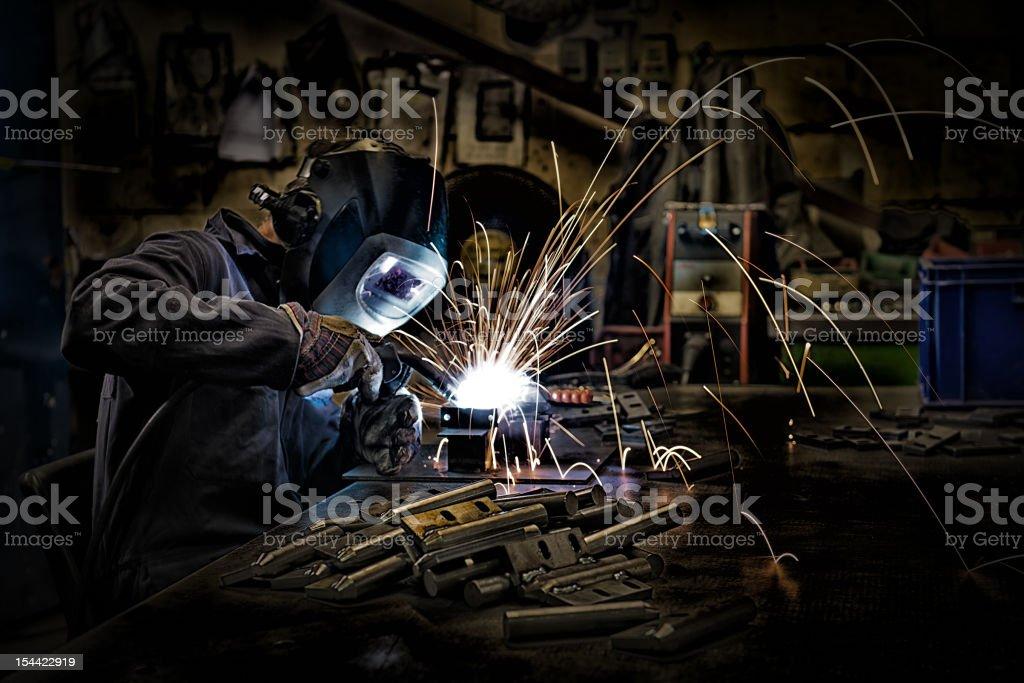 Welder Welding royalty-free stock photo