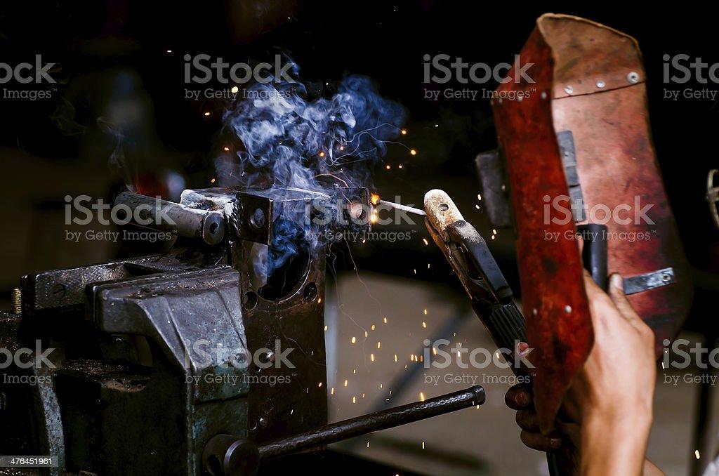 Welder working royalty-free stock photo