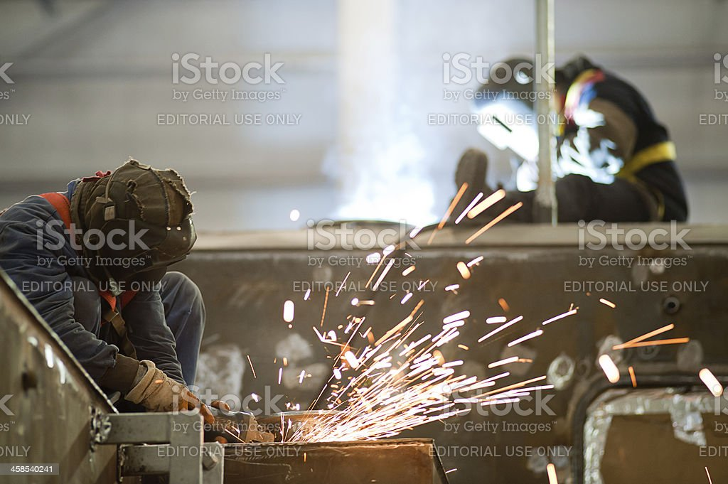 Welders stock photo