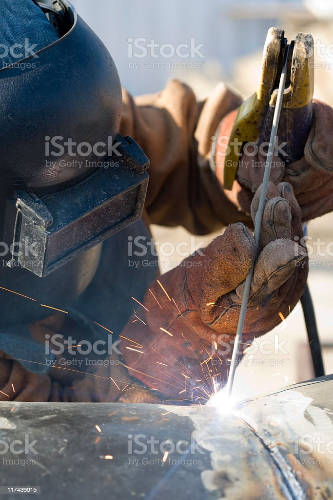 Welder's special tecnique royalty-free stock photo