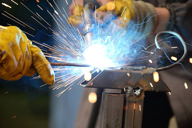 Welder,Welding,Argon Welding,Gas welding stock photo