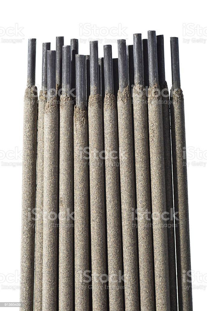 welding electrodes royalty-free stock photo
