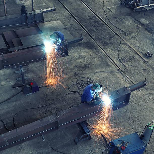 Schweißen Stahl Strahl große – Foto