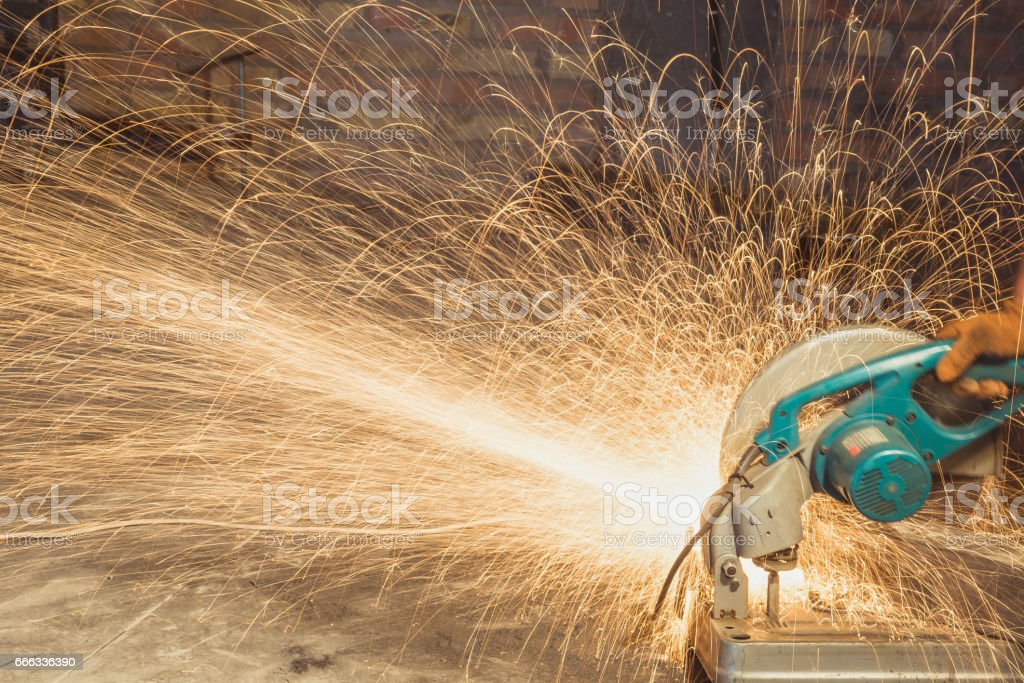 Welding machine. The man works as a welding machine stock photo