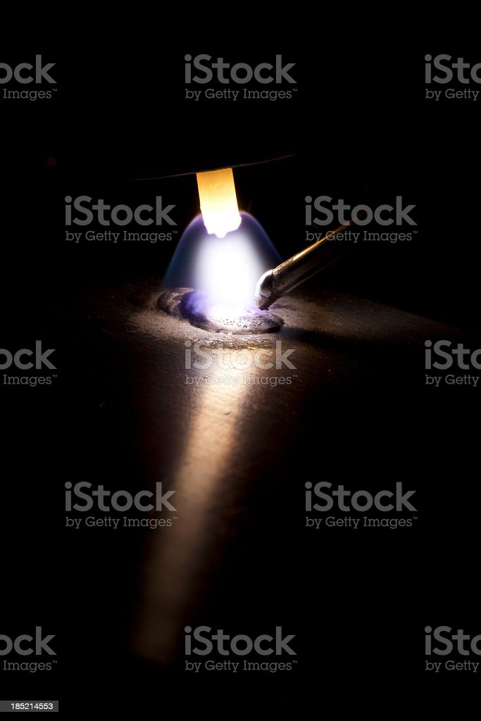 TIG welding macro stock photo