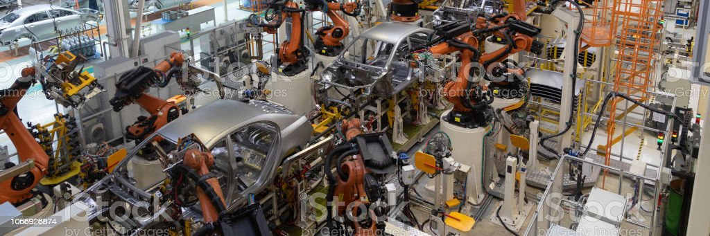Welding Of Car Body Automotive Production Line Long Format